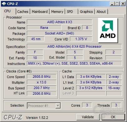 Athlon II X3 420 Rana