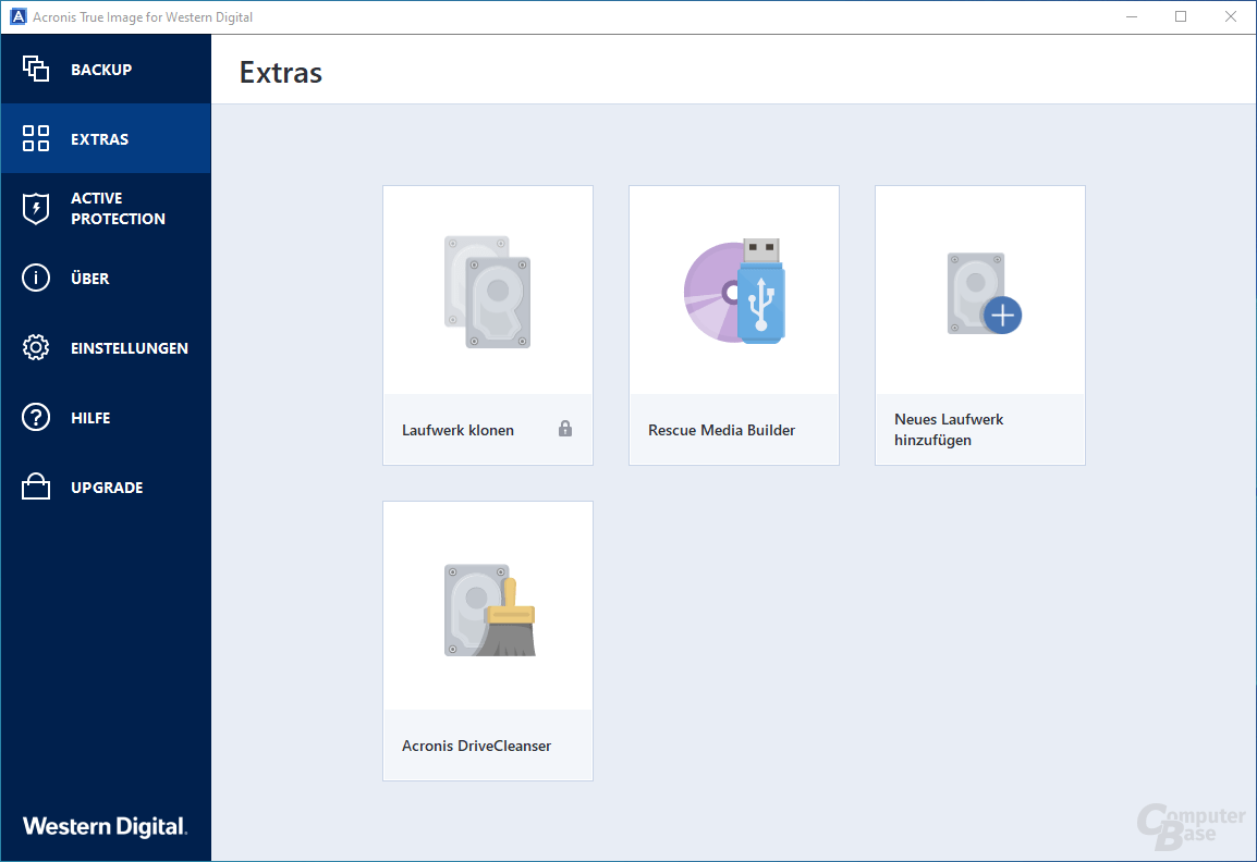 Acronis True Image for Western Digital – Extras