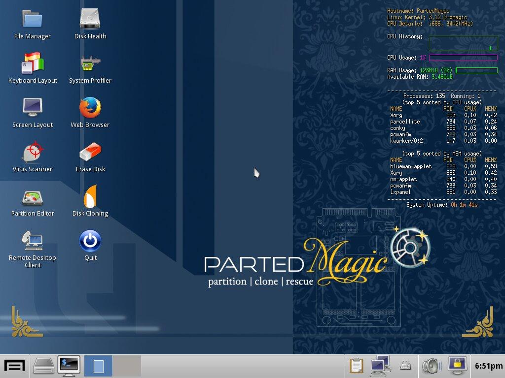 Parted Magic – Desktop