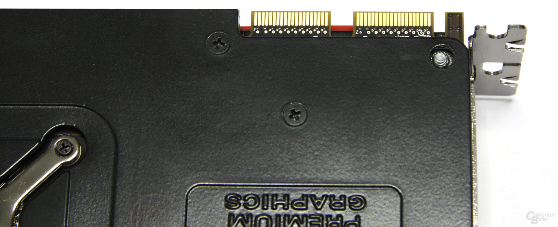 Radeon HD 5870 CF-Anschlüsse