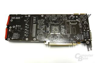 Radeon HD 5870 Rückseite ohne Kühlplatte