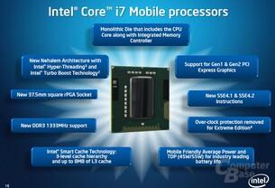 Core i7 für Notebooks im Überblick