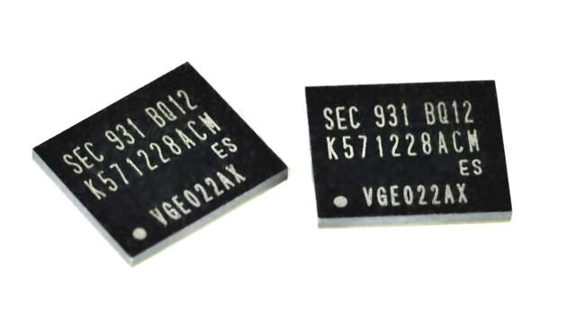 PRAM-Bausteine mit 312 MBit Kapazität von Samsung