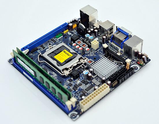 Mini-ITX-Mainboard mit H57-Chipsatz von Intel