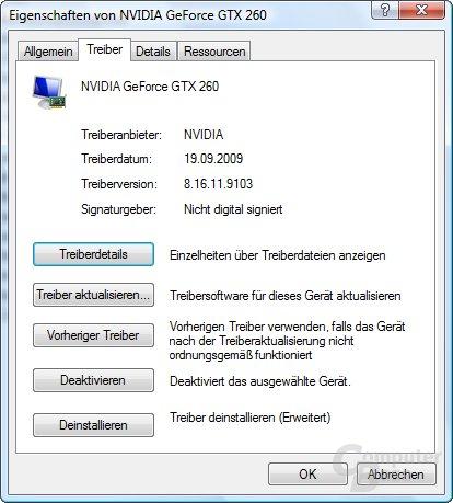 Nvidia GeForce 191.03