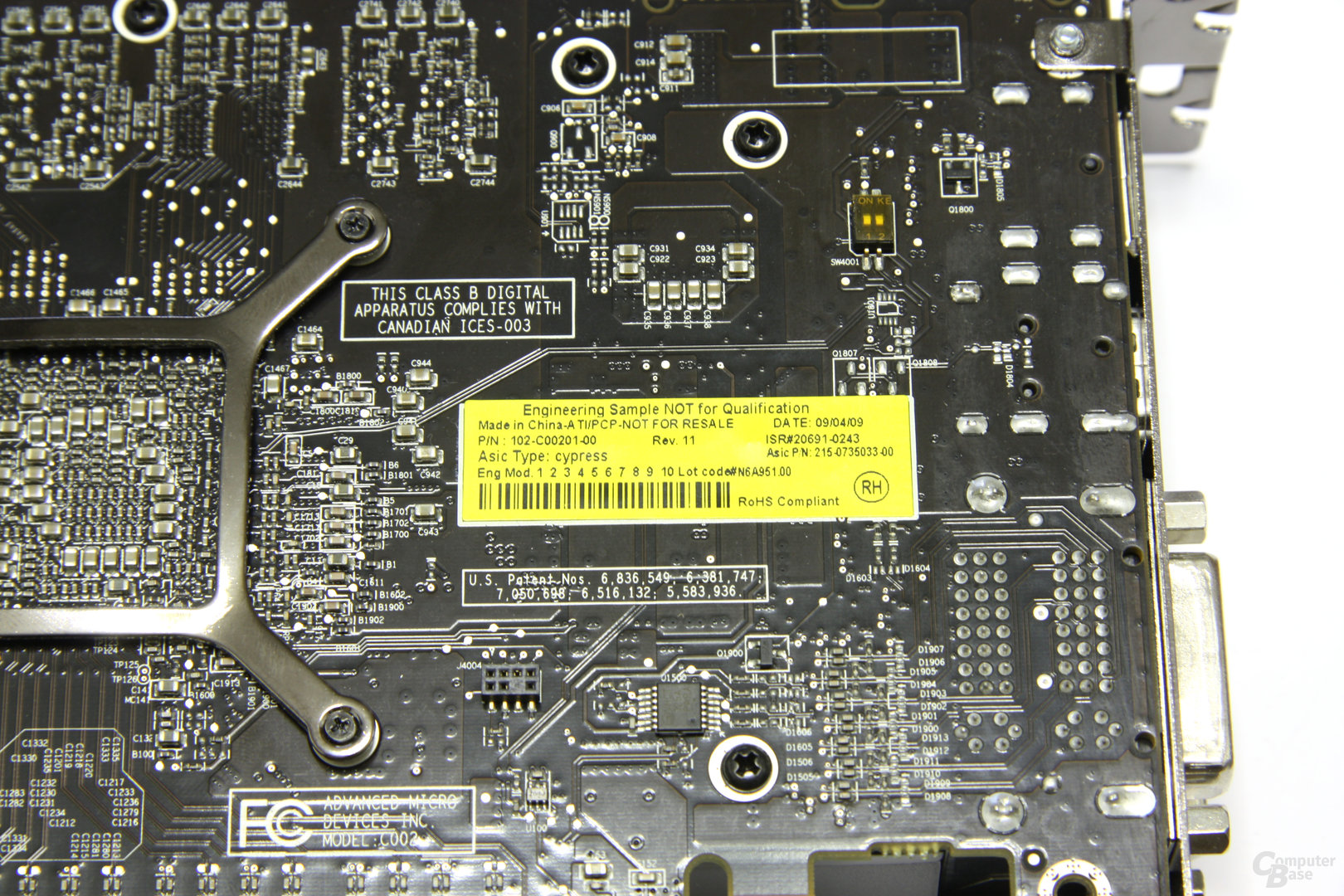 Radeon HD 5850 Aufkleber