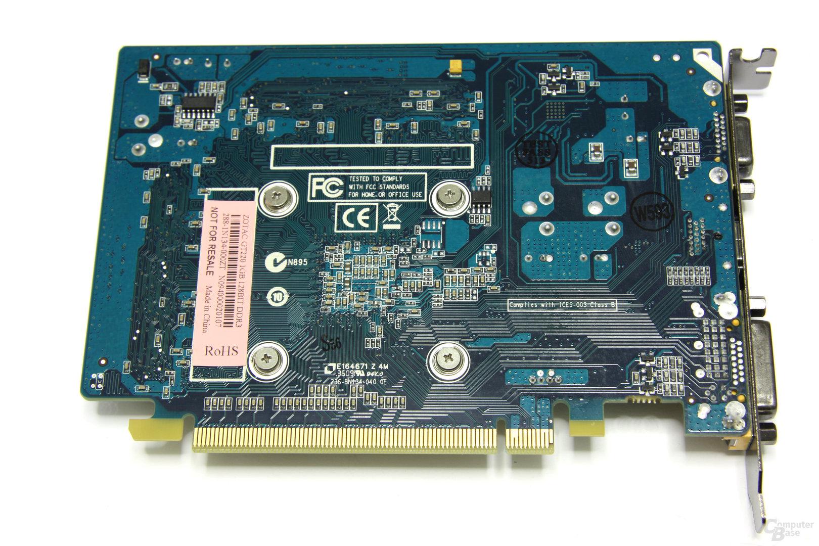 GeForce GT 220 Rückseite