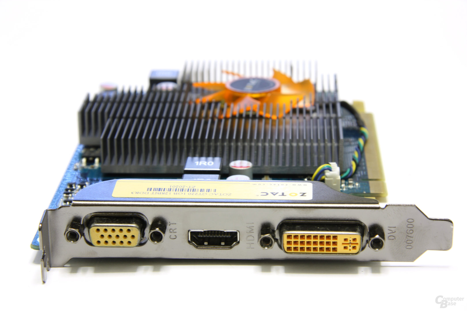 GeForce GT 220 Slotblech