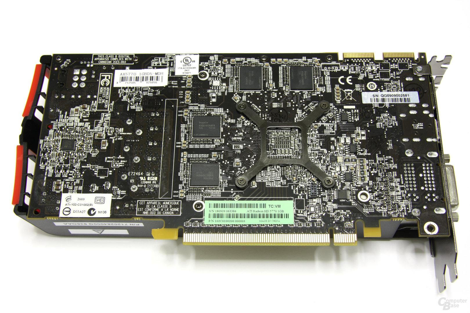 Radeon HD 5770 Rückseite