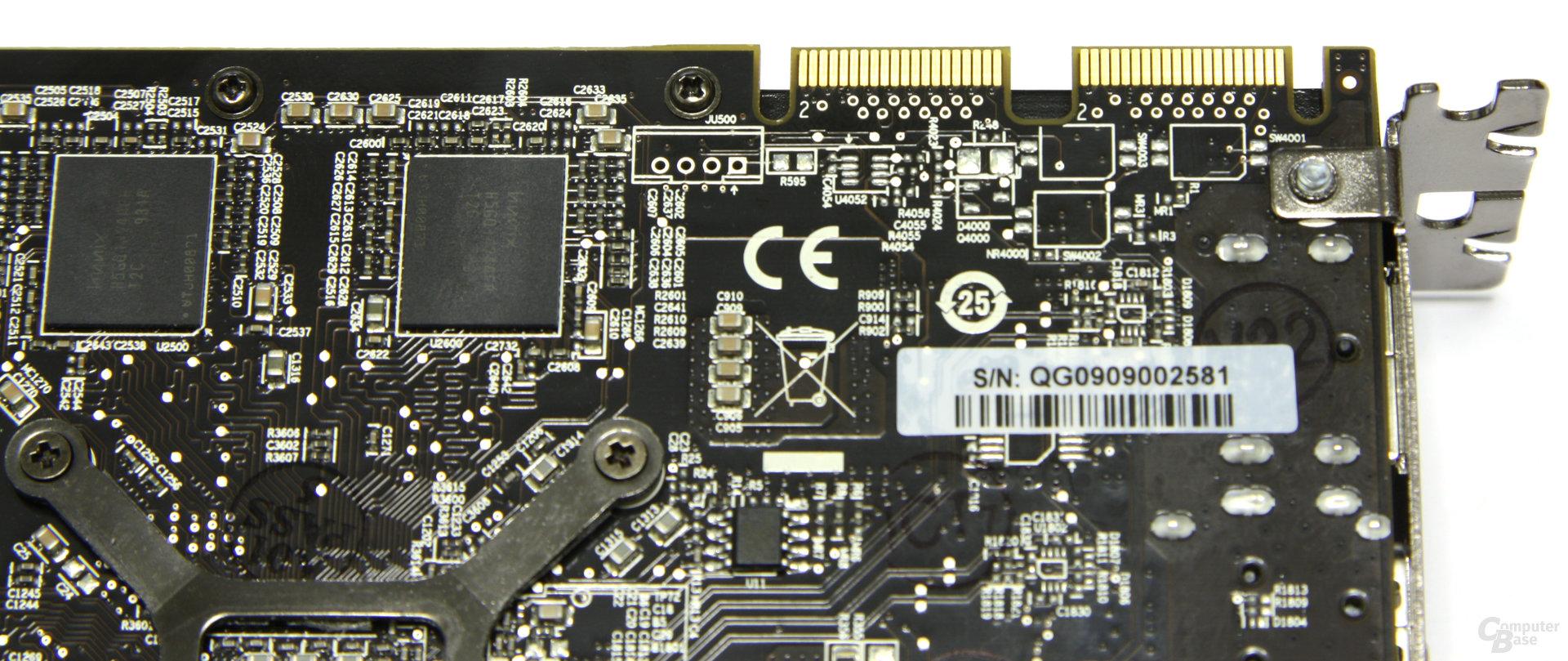 Radeon HD 5770 CF-Anschlüsse