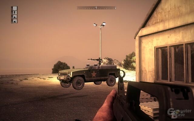 Vehikel-Mangel: Nur den Jeep darf der Spieler von Zeit zu Zeit steuern