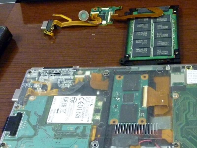Platine, SSD und SATA-Controller
