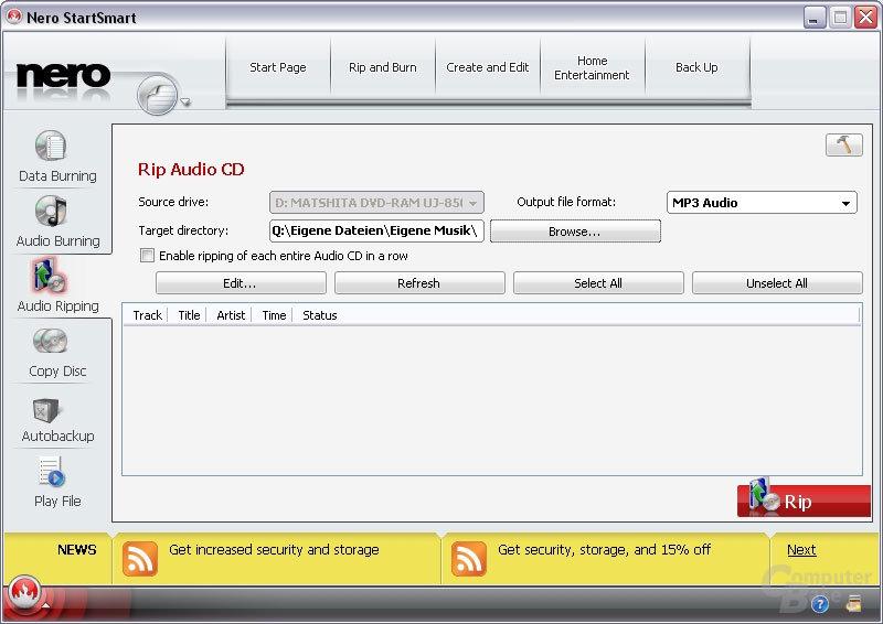 Musik-CDs in gängigen Formaten rippen