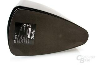 gummierte Fußunterseite