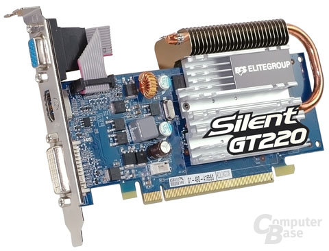 ECS Elitegroup GeForce GT 220 mit passiver Kühlung