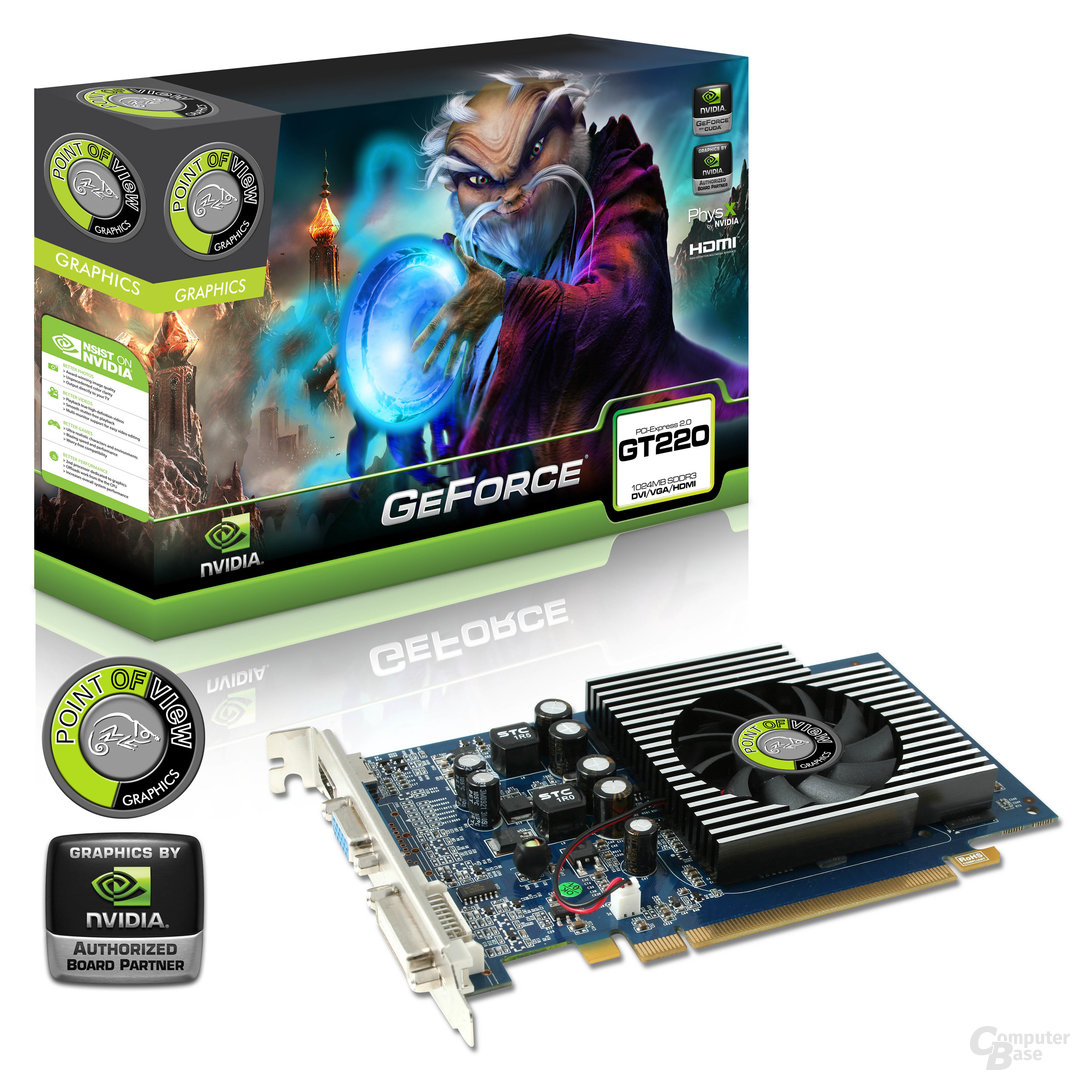 Point of View GeForce GT 220