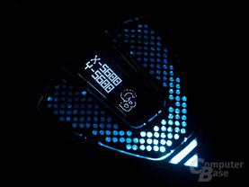 OLED-Display zur dpi-Anzeige und Logo-Ausgabe