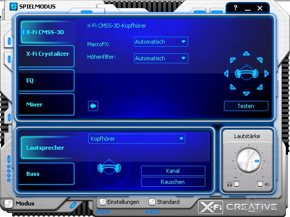 X-Fi CMSS-3D-Kopfhörer