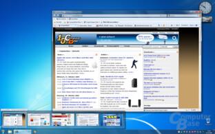 Taskleistenvorschau für einzelne IE-Tabs