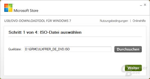 Auswahl der ISO-Datei