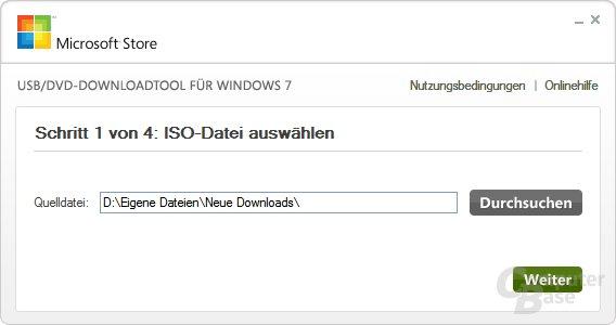 ISO-Datei auswählen