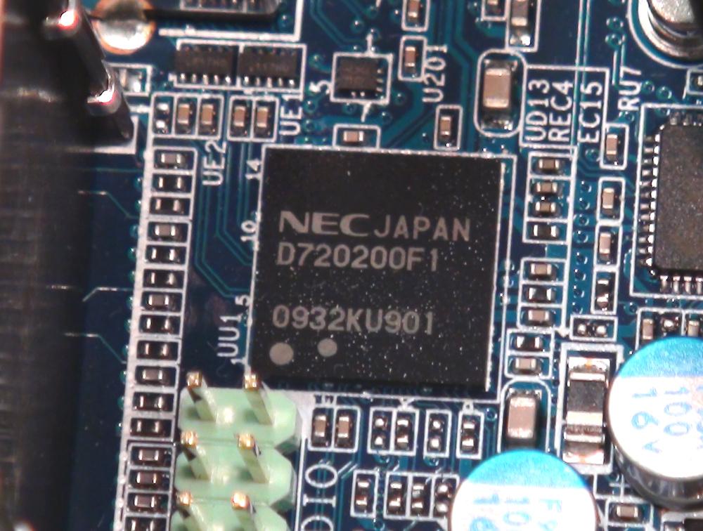 Gigabyte mit NEC-Chip für USB 3.0