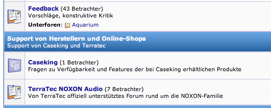 Caseking-Support-Forum auf ComputerBase