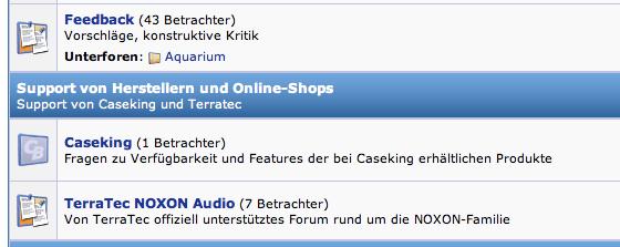 Caseking-Support-Forum auf ComputerBase