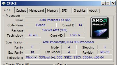 AMD Phenom II X4 965 BE (C3-Stepping) im Test: Neues Stepping, neue TDP