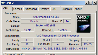 AMD Phenom II X4 965 BE (C3-Stepping) im Test: Neues Stepping, neue TDP
