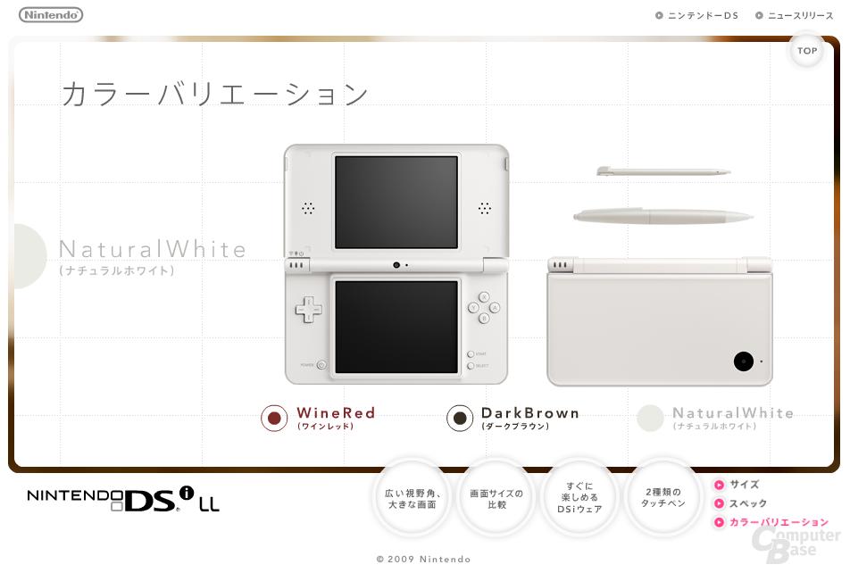 Nintendo DSI LL in weiß