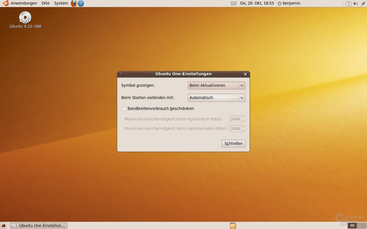 Ubuntu One: Einstellungen