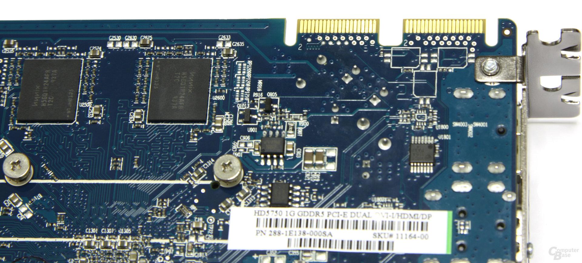 Radeon HD 5750 CF-Anschlüsse