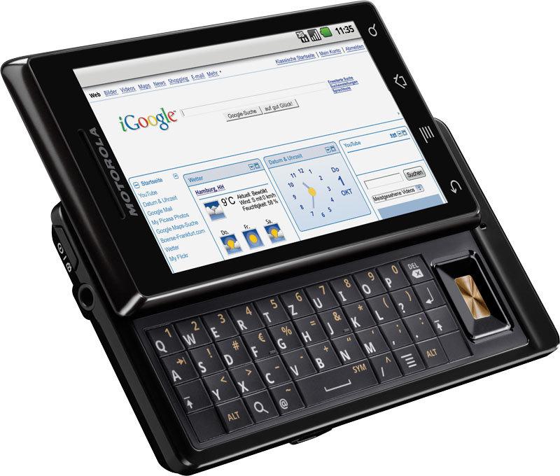 Motorola Milestone (seitlich, geschlossen)