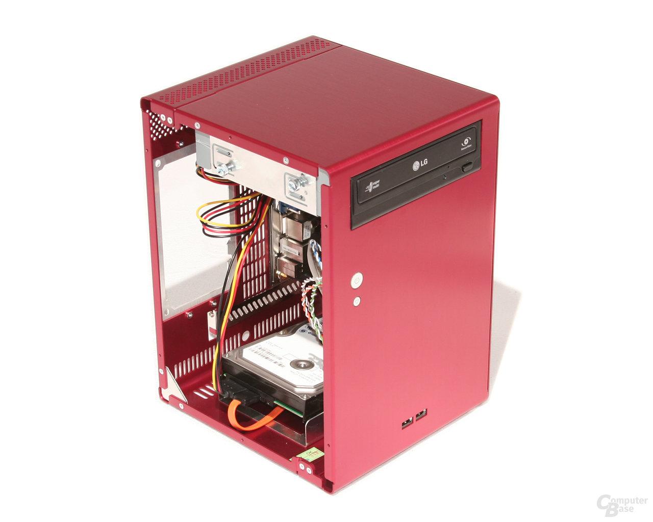 Lian Li PC-Q07 – Hardware hinten