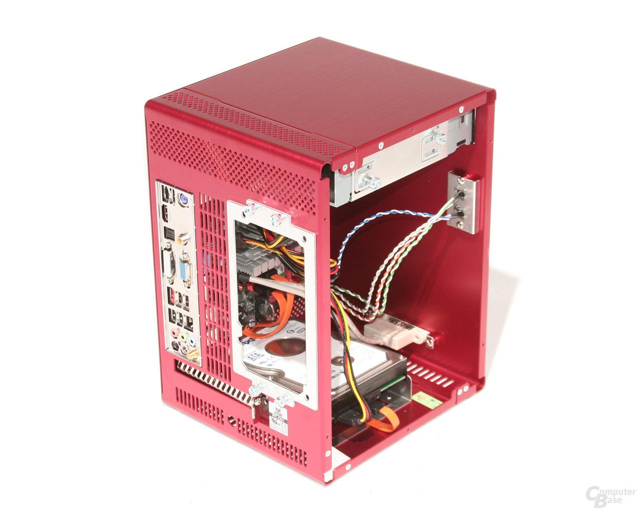 Lian Li PC-Q07 – Hardware vorn