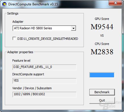 Intel Core 2 X6800 und ATi Radeon HD 5850