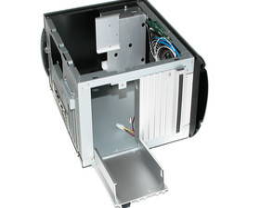 Silverstone SG04B-FH Sugo – geöffneter Festplattenhalter