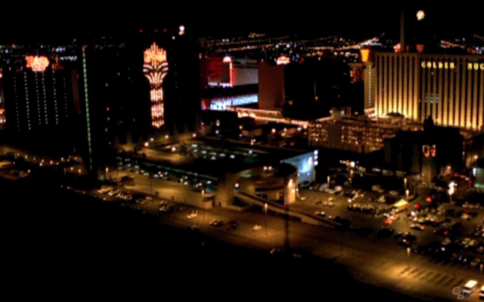 Las Vegas bei Nacht – Typische Luftbild-Trenner