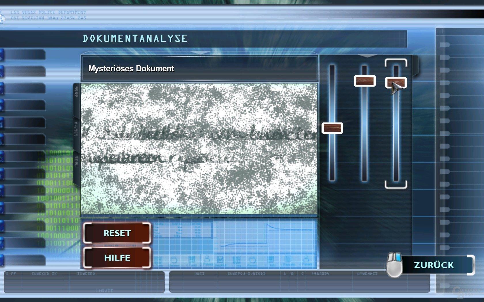 CSI - Beweisauswertung