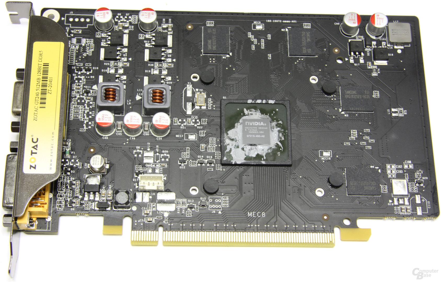GeForce GT 240 ohne Kühler