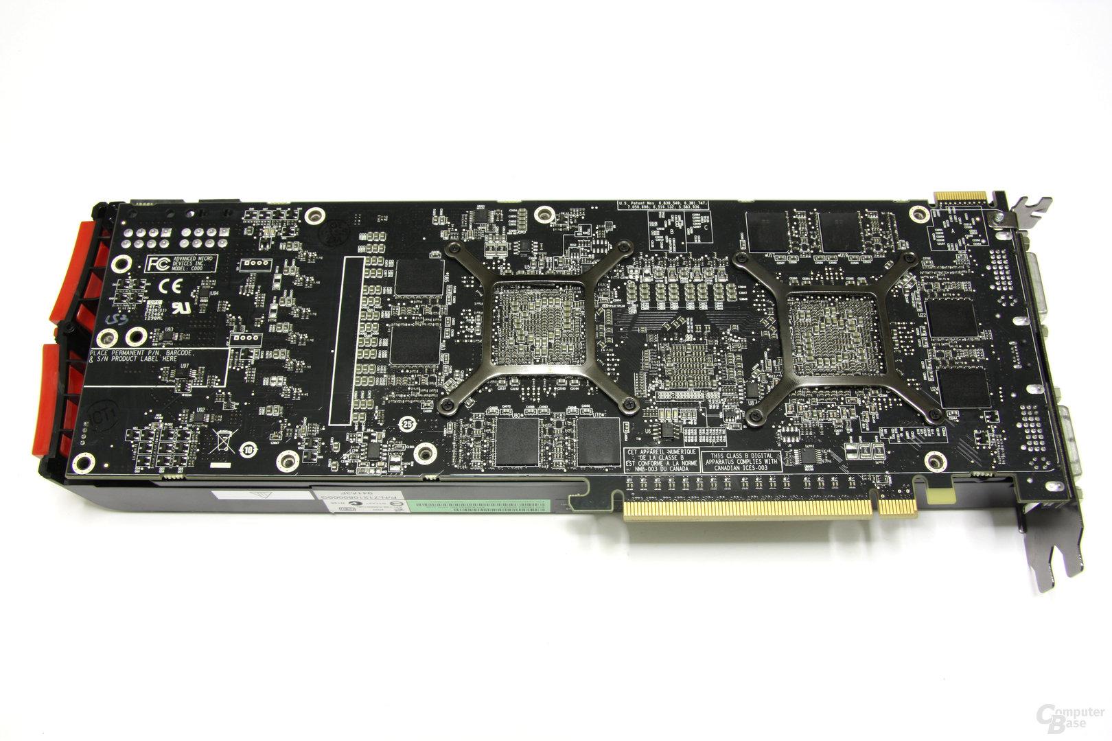 Radeon HD 5970 Rückseite ohne Kühler