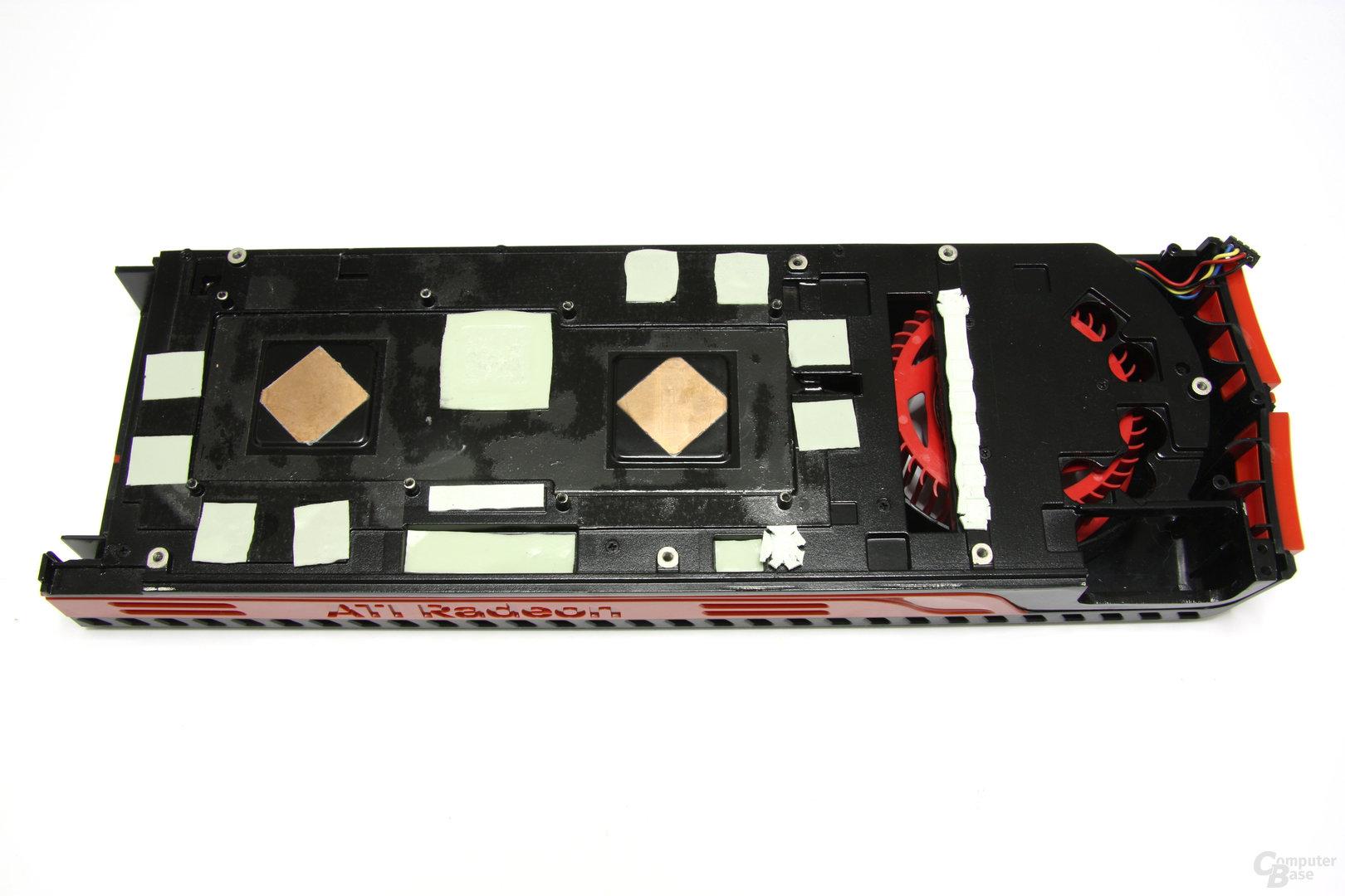 Radeon HD 5970 Kühlerrückseite