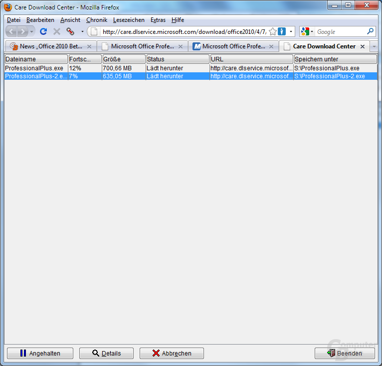 Auf Java basierender Downloadmanager