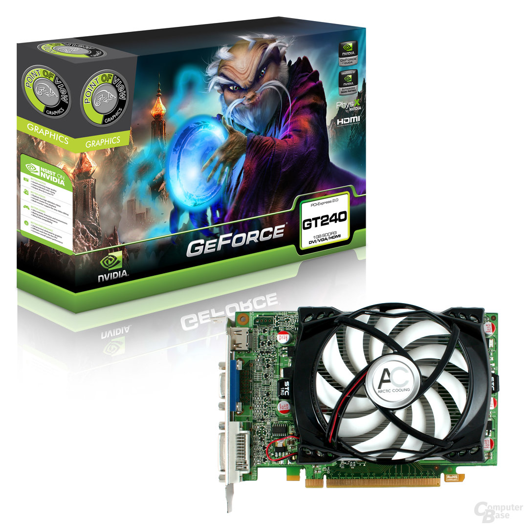 Point of View GeForce GT 240 mit DDR3