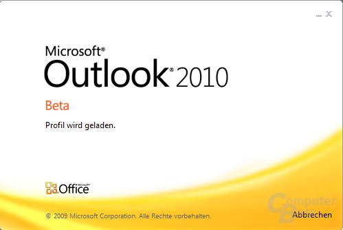 Outlook 2010 – Startlogo
