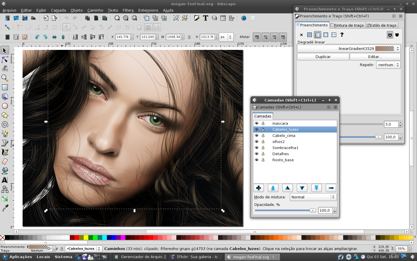 Create photorealistic vector work