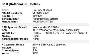 Fujitsu Lifebook M mit Pineview-Prozessor