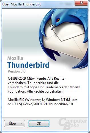 Mozilla Thunderbird 3 RC1