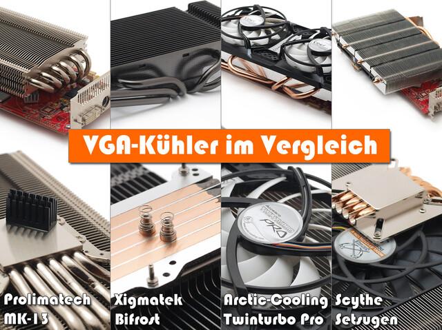 Vier VGA-Kühler im Vergleich